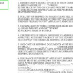Field 46A (Documents Required) in Letter of Credit (L/C)